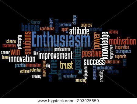 Enthusiasm, Word Cloud Concept 3