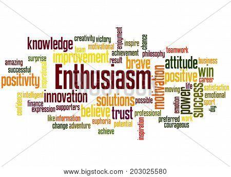 Enthusiasm, Word Cloud Concept 4