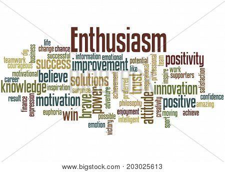 Enthusiasm, Word Cloud Concept 5