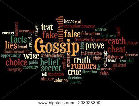 Gossip, Word Cloud Concept 4