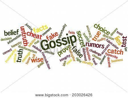 Gossip, Word Cloud Concept 6