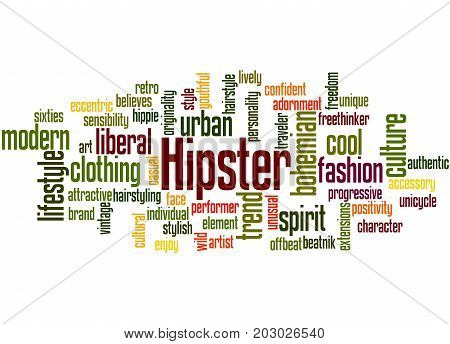 Hipster, Word Cloud Concept 2