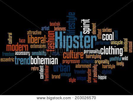 Hipster, Word Cloud Concept 3