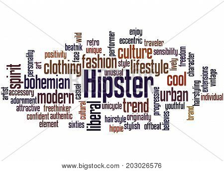 Hipster, Word Cloud Concept 4