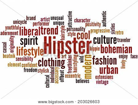 Hipster, Word Cloud Concept 6