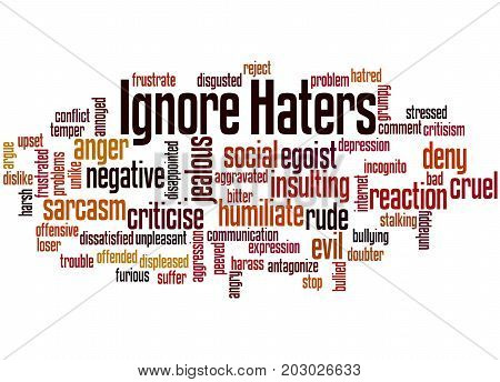 Ignore  Haters, Word Cloud Concept 2