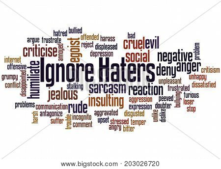 Ignore  Haters, Word Cloud Concept 3