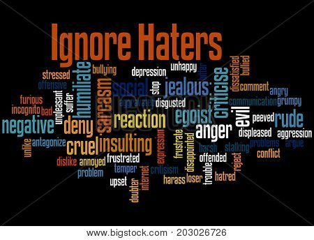 Ignore  Haters, Word Cloud Concept 4
