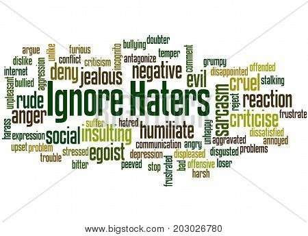 Ignore  Haters, Word Cloud Concept 6