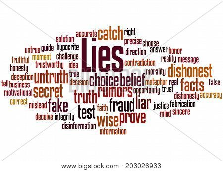 Lies, Word Cloud Concept 2