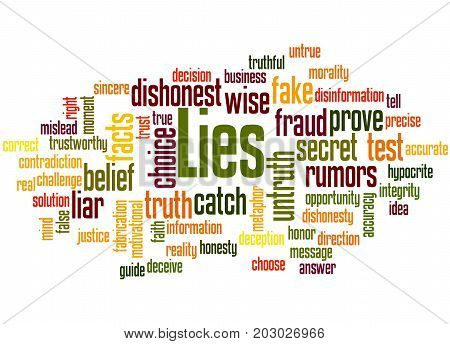 Lies, Word Cloud Concept 5