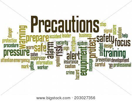 Precautions, Word Cloud Concept 5