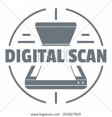 Digital scan logo. Simple illustration of digital scan vector logo for web design isolated on white background