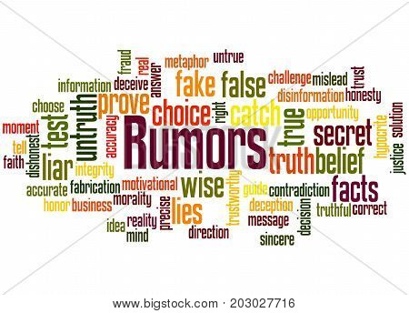 Rumors, Word Cloud Concept 4