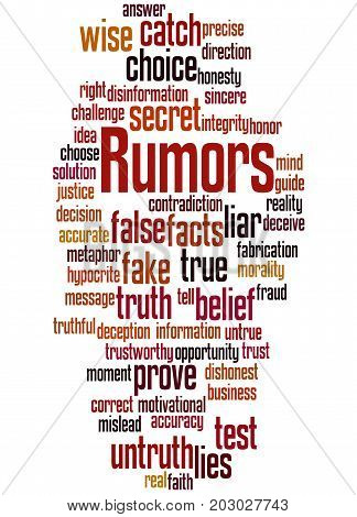 Rumors, Word Cloud Concept 6