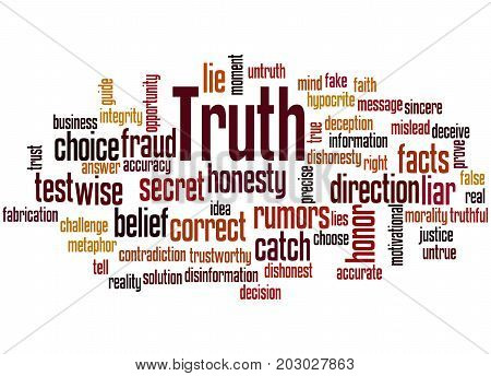 Truth, Word Cloud Concept