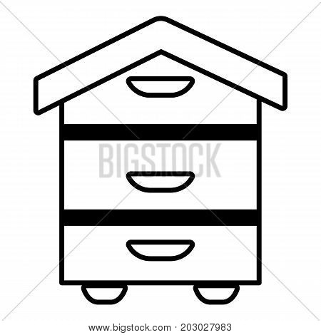 Wood beehive icon. Outline illustration of wood beehive vector icon for web design isolated on white background