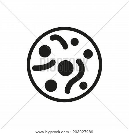 Simple icon of bacteria. Virologist, virus, germs. Medical professions concept. Can be used for topics like medicine, microbiology, science