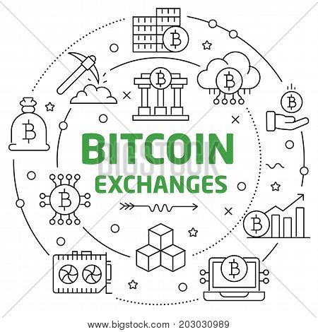 lines circle illustration bitcoin crypto innovations business