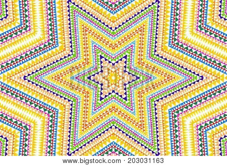 Background with bright abstract colorful concentric pattern