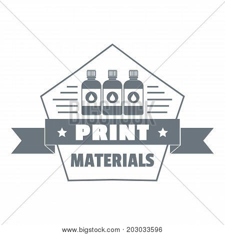 Print materials logo. Simple illustration of print materials vector logo for web design isolated on white background
