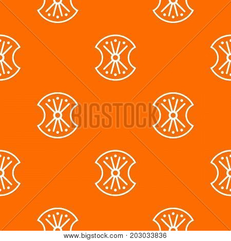 Wooden shield pattern repeat seamless in orange color for any design. Vector geometric illustration