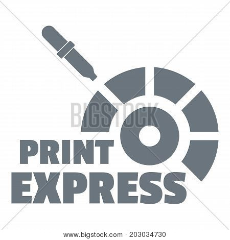 Print express logo. Simple illustration of print express vector logo for web design isolated on white background