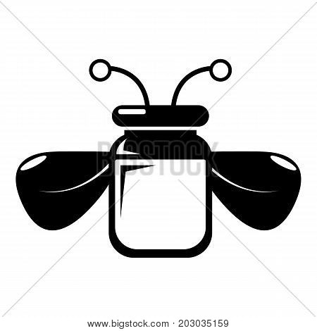 Jar bee honey icon . Simple illustration of jar bee honey vector icon for web design isolated on white background