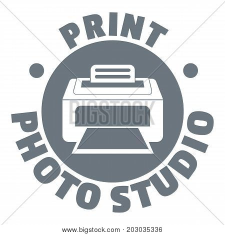 Print photo studio logo. Simple illustration of print photo studio vector logo for web design isolated on white background