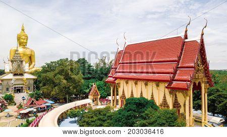 Aerial Photo Wat Muang Ang Thong Thailand