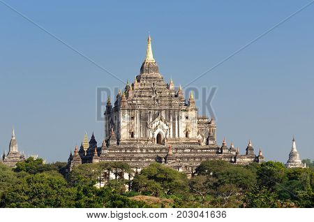 Ancient Thatbyinny Pahto Temple of the World Heritage site at Bagan Myanmar