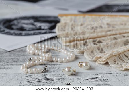 Feminine Objects A Woman Uses In Preparation For A Visit At The Opera Or Theater