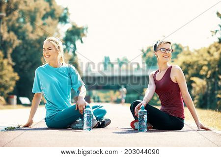 Women Exercise Outside