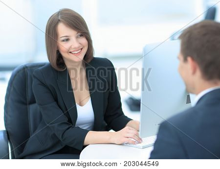 Successful job interview with boss