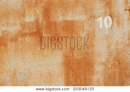 Weathered Rusty Painted Wall Texture. Number 10.