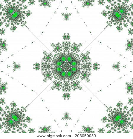 Ornate symmetry mandala decorative oriental render design