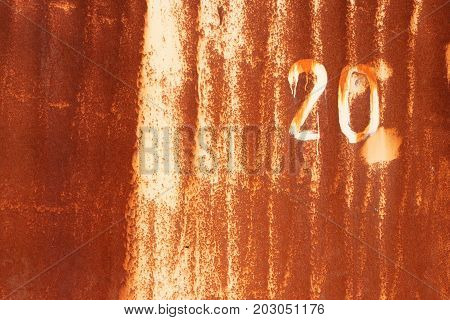 Rust Painted Wall Texture. Number 20. Grunge Urban Background.