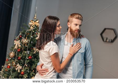 Young Couple At Christmastime