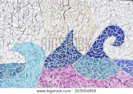 Colorful mosaic tiles background