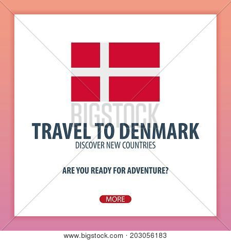 Travel To Denmark. Discover And Explore New Countries. Adventure Trip.