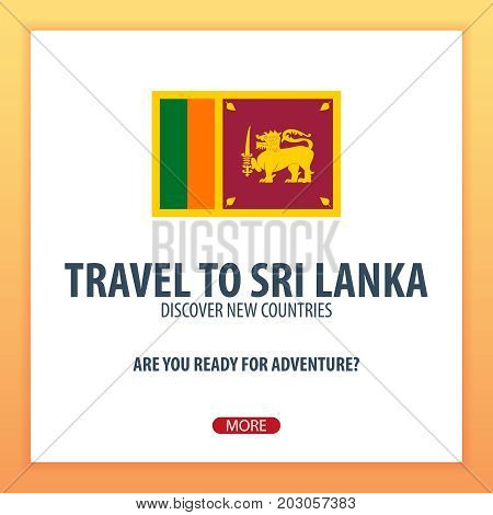 Travel To Sri Lanka. Discover And Explore New Countries. Adventure Trip.