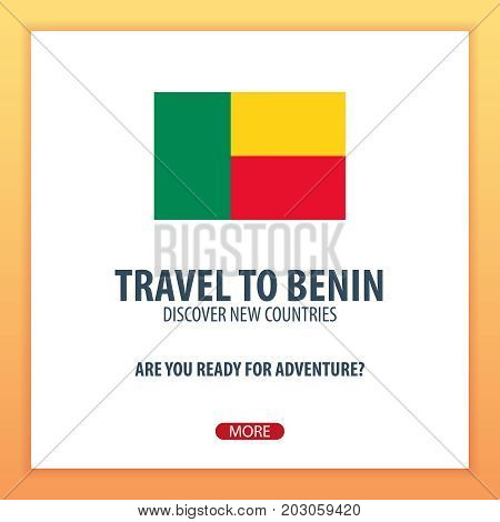 Travel To Benin. Discover And Explore New Countries. Adventure Trip.