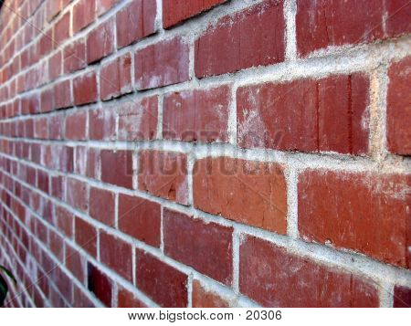 Brick Wall At Angle.
