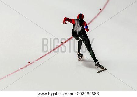 female athlete speed skater race sprint speed skating