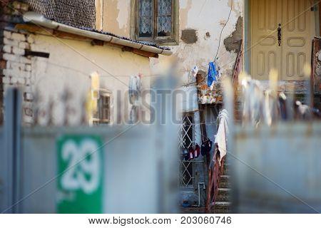 Kutaisi, Georgia - November 22, 2016: Picturesque Medieval Streets Of Kutaisi Town, Capital Of The W