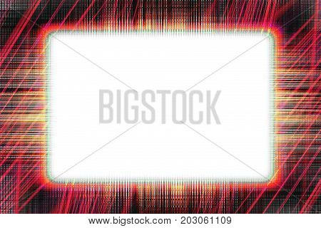 Red and black lines border frame with white copy space