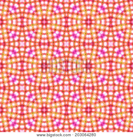 Symmetry seamless ornamental red orange pattern design