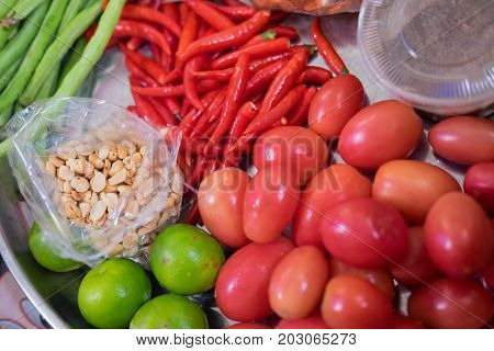 Som Tum Thai Food Ingredients