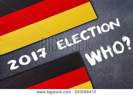 Election In Germany On The Chalk Board