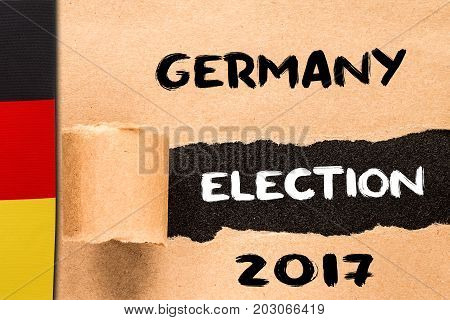 Germany, Election 2017, Inscription On Torn Paper Sheet